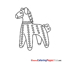 Statuette Horse printable Coloring Sheets download