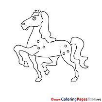 Step Horse for Children free Coloring Pages