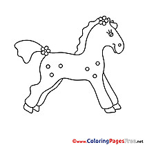 Toy Horse free printable Coloring Sheets