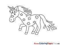 Unicorn free printable Coloring Sheets
