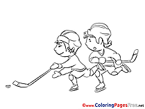 Boys Ice Hockey Player for free Coloring Pages download