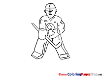 Goalie for Children free Coloring Pages