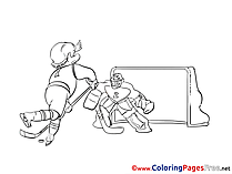 Goalkeeper download printable Coloring Pages