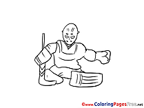 Goalkeeper free printable Coloring Sheets