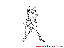 Ice Hockey Player Coloring Pages for free