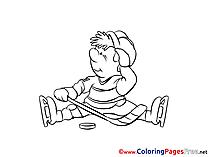 Kid Hockey for free Coloring Pages download