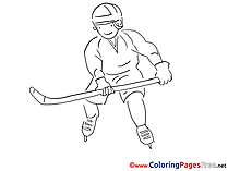 Man Kids Ice Hockey download Coloring Pages