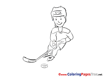 Puck Ice Hockey Coloring Sheets download free