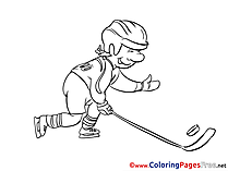 Puck Ice Hockey Colouring Sheet download free
