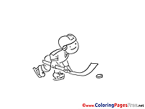 Puck Ice Hockey printable Coloring Sheets download