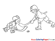 Rivals Colouring Page printable free