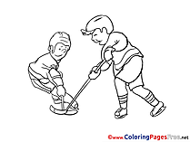 Rivals Ice Hockey free Colouring Page download