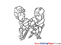Rivals Ice Hockey Kids download Coloring Pages