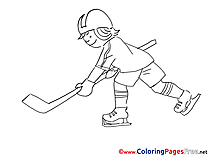Sportsman Ice Hockey Coloring Pages for free