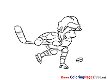 Sportsman Ice Hockey printable Coloring Sheets download