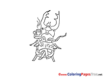 Beetle Kids download Coloring Pages