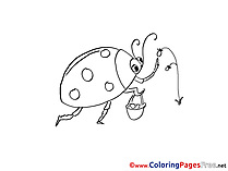 Bug Berries Colouring Page printable free