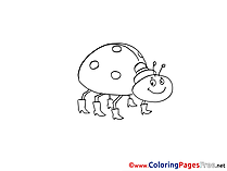 Bug Children download Colouring Page