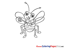 Bug printable Coloring Sheets download