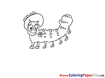 Centipede Hat Children Coloring Pages free