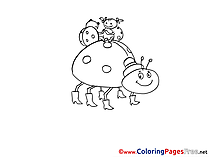 Family Lagybugs for free Coloring Pages download