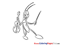 Grasshopper free Colouring Page download