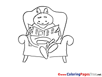 Ladybug Newspapper  free Colouring Page download