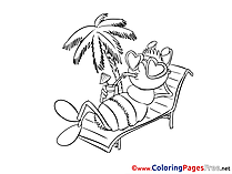 Palm Bee for free Coloring Pages download