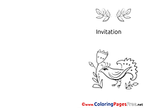 Invitations coloring pages