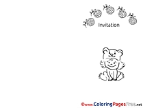 Raspberry Colouring Sheet download Invitation