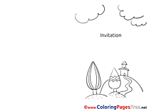 Village Coloring Sheets Invitation free
