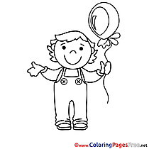 Balloon Kids download Coloring Pages