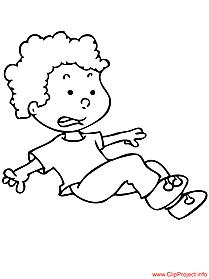 Boy coloring page