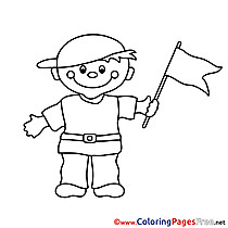 Flag Colouring Sheet download free