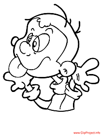 Funny kid coloring page