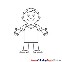 Infant Colouring Page printable free