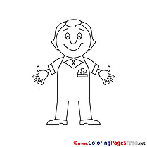 Man for Kids printable Colouring Page