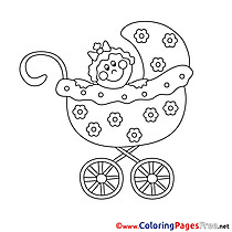 Pram free printable Coloring Sheets