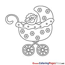 Pram printable Coloring Sheets download