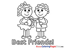 Best Friends Coloring Sheets download free