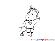 Boy Scout free printable Coloring Sheets