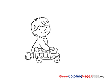 Car download Colouring Sheet Toy free