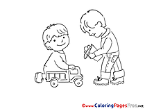 Cars Toys free printable Coloring Sheets Boys