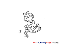 Cubes for Kids printable Colouring Page