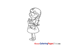 Doll Coloring Sheets Girl download free