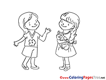 Doll printable Coloring Pages for free Girls