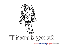 Flute download printable Coloring Pages Girl