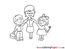 For Kids printable Colouring Page