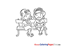 Friends Colouring Sheet Kids download free