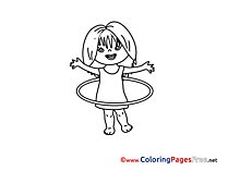Gymnastic Hoop Children download Colouring Page